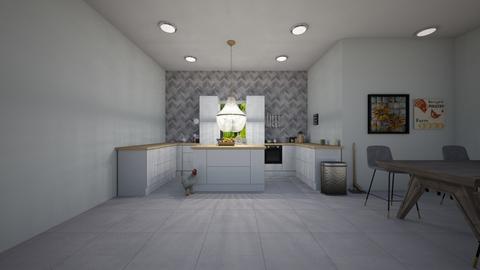 Modern farm house kitchen - Kitchen  - by Idkwhy