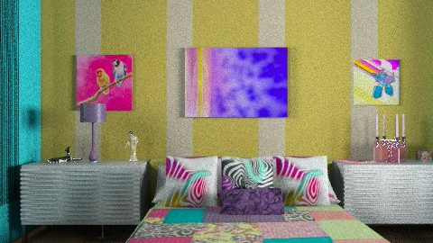 funky retro - Retro - Bedroom  - by mywishlr