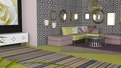 gold and mov rose - Glamour - Living room  - by chania