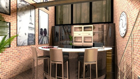 Loft Kitchen - Eclectic - Kitchen  - by Theadora