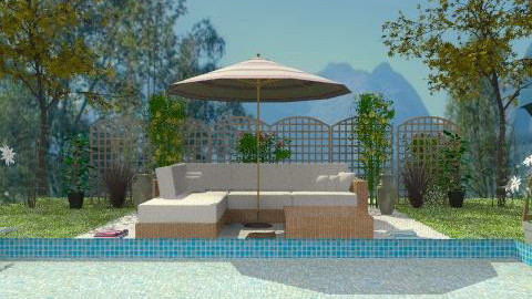 Garden with pool - Classic - Garden  - by milyca8