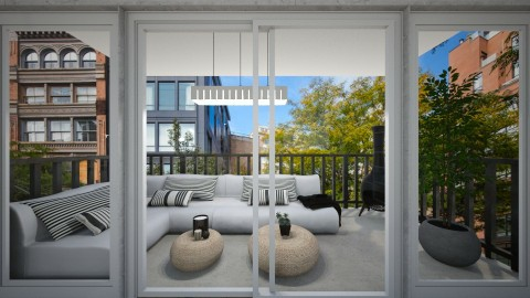 Apartment Redec Balcony - Modern - Garden  - by nickynunes