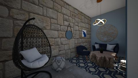 Indigo - Living room  - by Meghan White