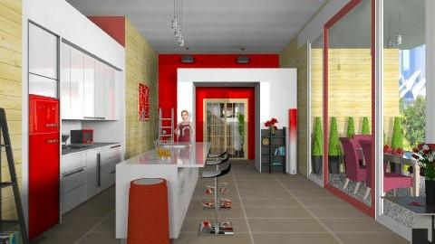 Make mine a double - Modern - Kitchen  - by Nicky West