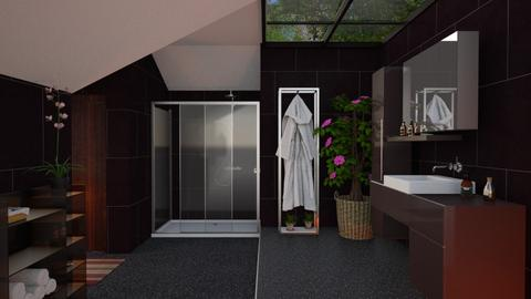 S_Dark Bathroom - Bathroom  - by Shajia