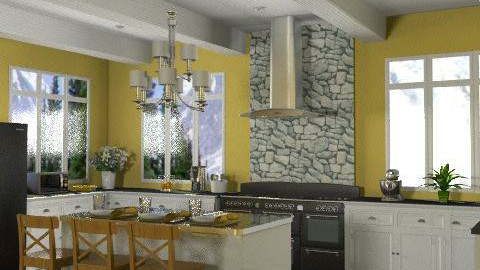 Sunny Kitchen - Classic - Kitchen  - by wwrightsc