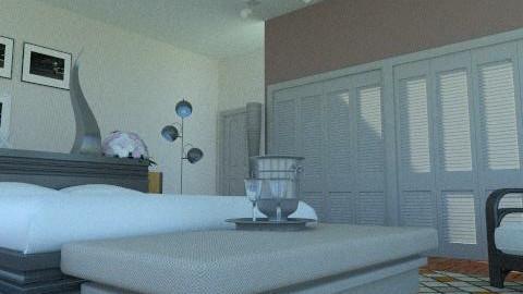 simple hotel room - Rustic - Bedroom  - by Rudibr