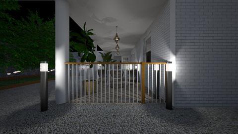 Terrace at night3 - Garden  - by lovasemoke