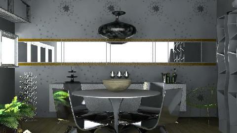 retro modern  - Retro - Dining room  - by ovchicha