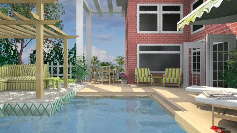 Pool Backyard - Modern - Garden - by Bibiche
