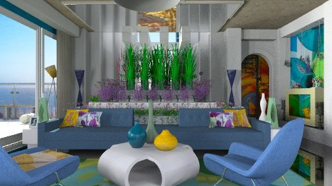 pyramid garden - Glamour - Living room  - by Eleni Irini