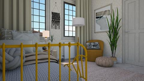 The Yellow Bed - Classic - Bedroom  - by HenkRetro1960