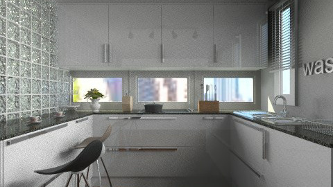 little bit - Modern - Kitchen  - by facundo