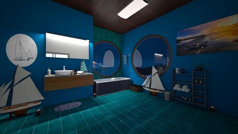 NAUTICAL BATHROOM - Modern - Bathroom  - by BlackOrchidea