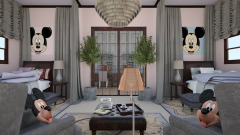 Luxe  mouse - Kids room  - by chania