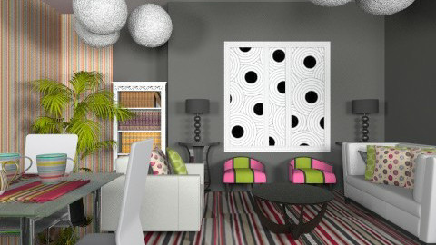 Pois Et Lignes - Modern - Living room  - by Luisy