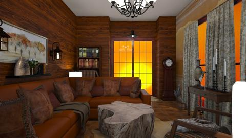 Western Touch - Rustic - Living room  - by Irishrose58