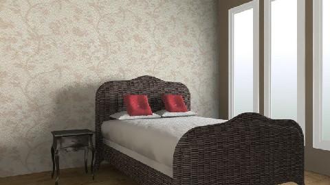 bedroom in process - Rustic - Bedroom  - by ChristalleCity