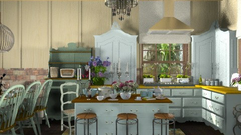 Ivy Cottage Kitchen. - Vintage - Kitchen  - by Your well wisher