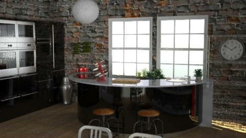 WarehouseConversion - Kitchen1 - Eclectic - Kitchen  - by camilla_saurus