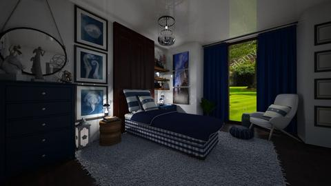 Blue with White - Kids room  - by Maria Helena_215