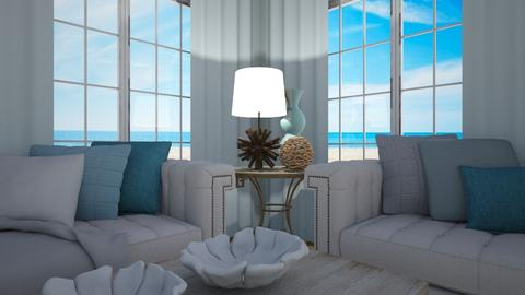 Beachy - Rustic - Living room - by Sally Anne Design