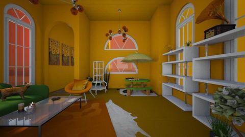 orange room - Living room - by emmie314