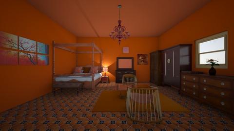 Orange Guest Room  - Modern - Bedroom - by Ravina_9069