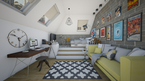 Attic - Eclectic - Bedroom  - by Laurika