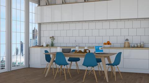 city 3 - Modern - Kitchen  - by NEVERQUITDESIGNIT