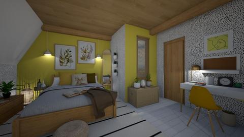 Yellowish boho - Bedroom  - by evelyn19