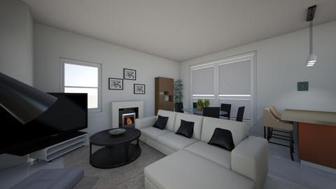 Maurice living 1 TV cornr - Modern - Living room  - by Beth Hayward