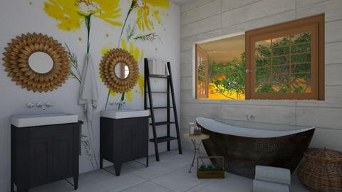 Soaking in Sunflowers - Bathroom - by helsewhi