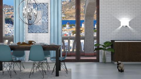 Modern Greek Kitchen Dini - by ivelinastt