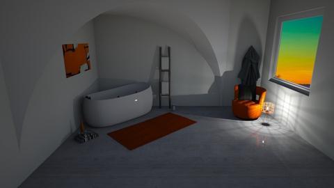 Orange Bathroom - Bathroom  - by khayla simpson