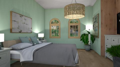 green bedroom - Classic - Bedroom  - by monek299