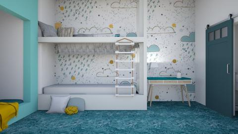 Contest teen twin bedroom - Modern - Kids room  - by matildabeast