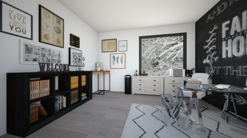 A Stylish Home Office  - Office - by serenellc27
