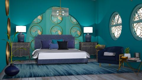M_Turquoise and Metal - Bedroom - by milyca8