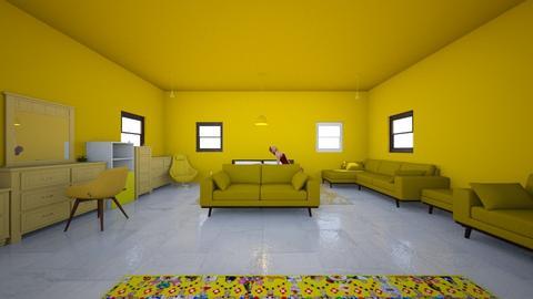 yellow bedroom - Modern - Bedroom  - by MarianaGuzman