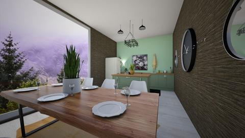 Forest View Kitchen - Rustic - Kitchen  - by katae potatae