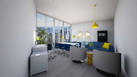 Blue Green Yellow - Office  - by tokage