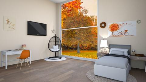 Autumn Bedroom - Bedroom  - by V A N N Y