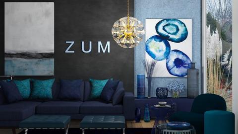Blue marine - Living room  - by rechnaya
