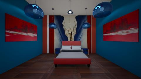 Okeefe cow skull bedroom - Bedroom - by Bezuglyfamily
