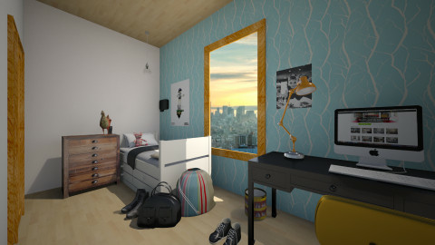 A 12 year olds room - Modern - Kids room  - by Cecily Reid