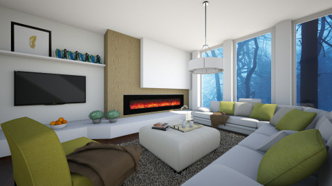 Stay Warm - Modern - Living room  - by channing4