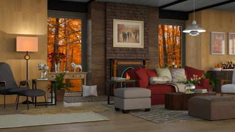 October Woods - Rustic - Living room  - by millerfam