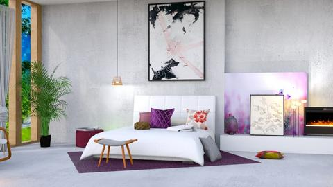 Pink and Purple Bedroom - Bedroom  - by Art_Decoration