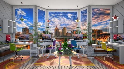 Modern Playful Office - by  krc60